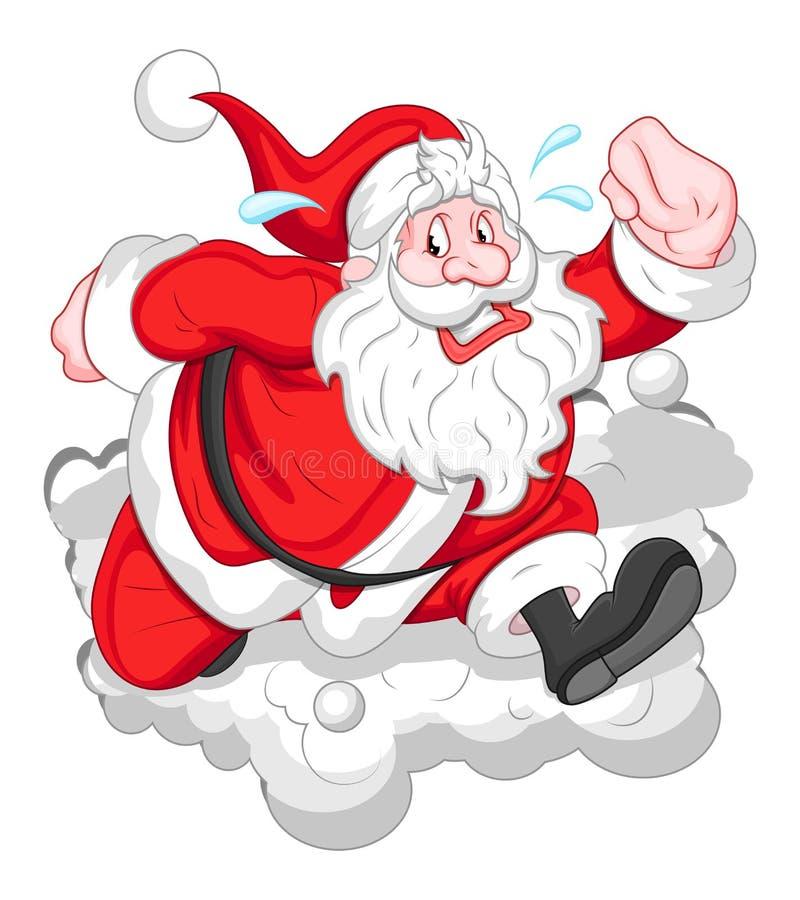 Kreskówka Śmieszny Santa - Bożenarodzeniowa Wektorowa ilustracja ilustracja wektor
