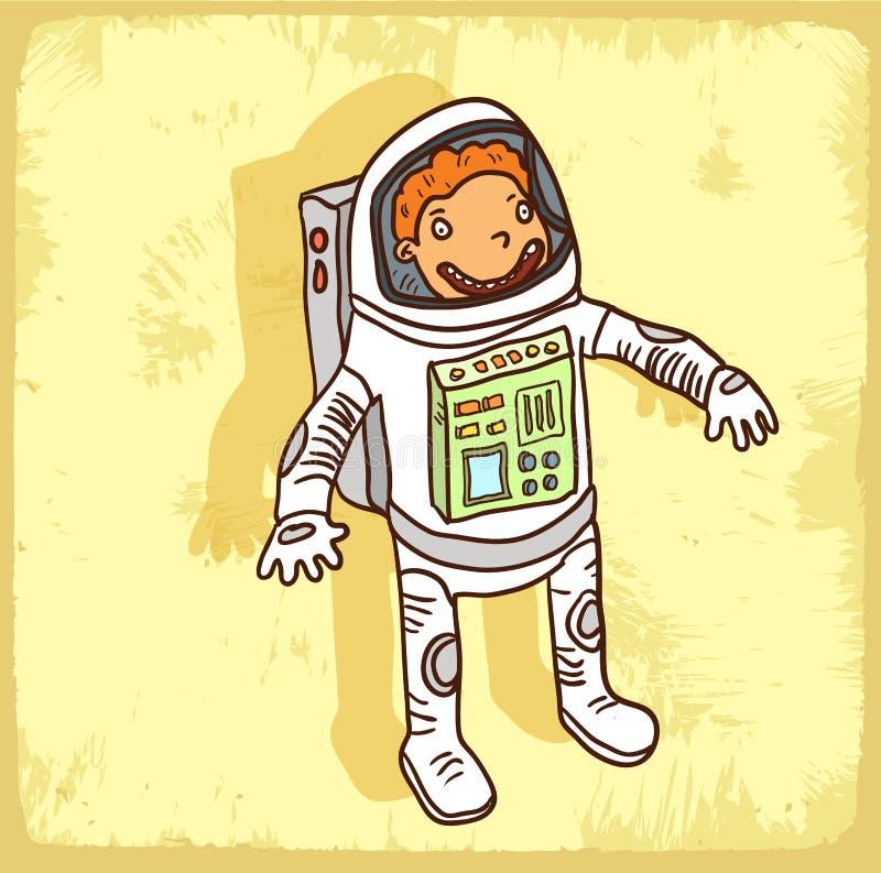 Kreskówka astronauta ilustracja, wektorowa ikona royalty ilustracja