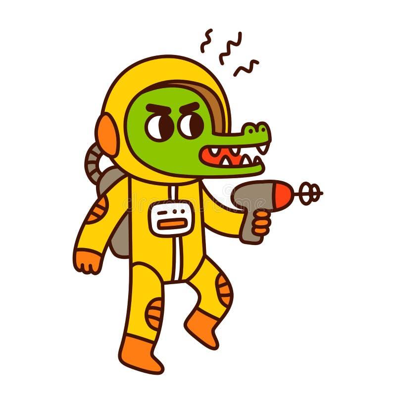 kreskówka astronautyczny obcy ilustracji