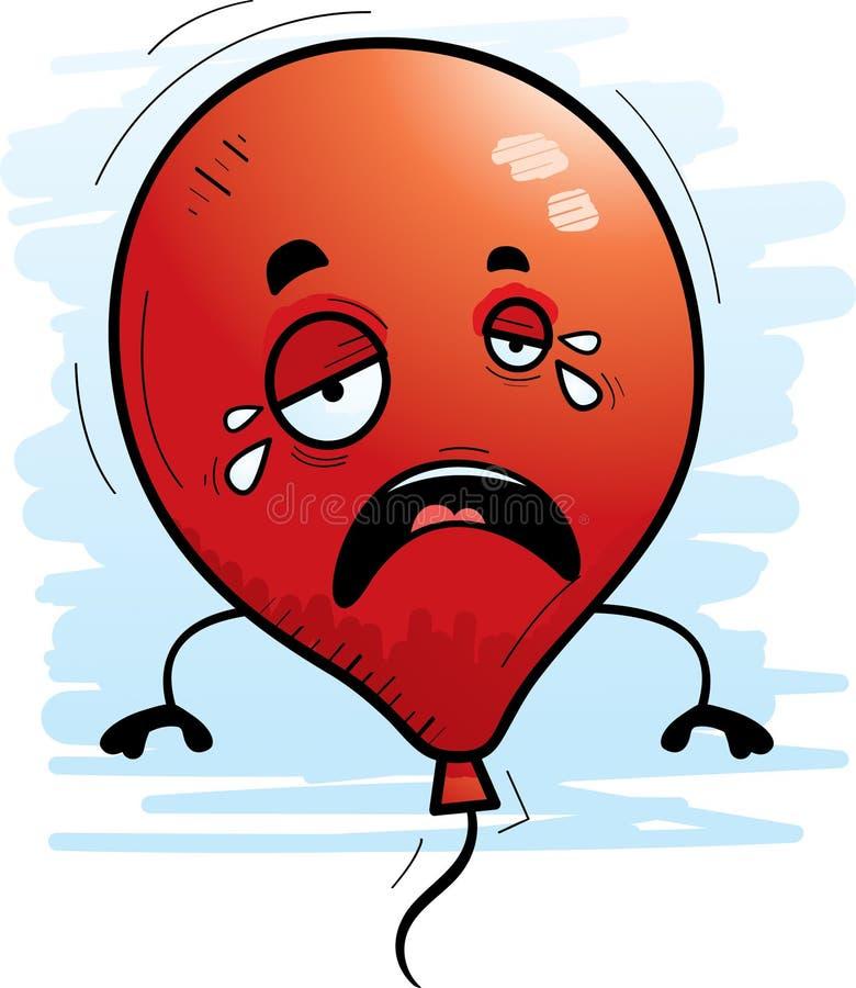 Kreskówka Balonowy płacz ilustracja wektor