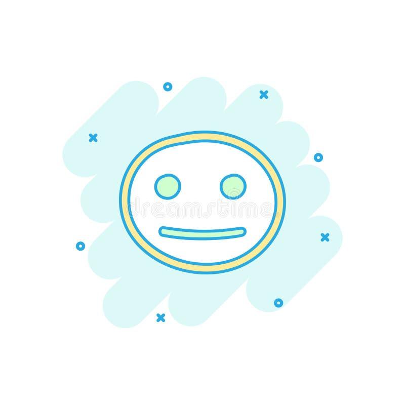 Kreskówka barwił ręka rysującą smiley twarzy ikonę w komiczka stylu Smil ilustracja wektor