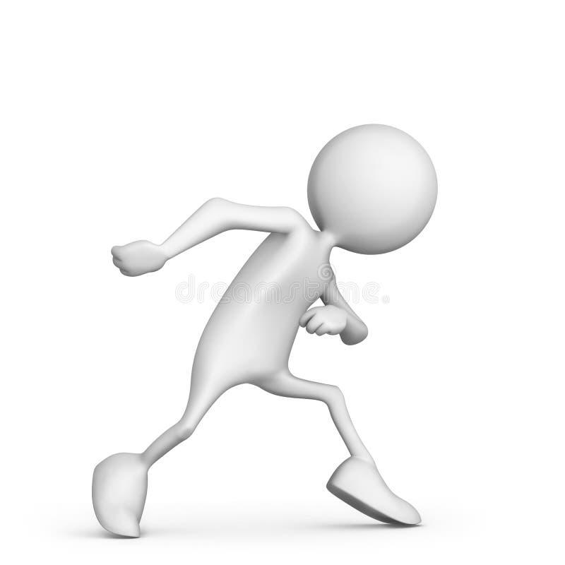 Kreskówka biegacz w zaczyna pozyci royalty ilustracja