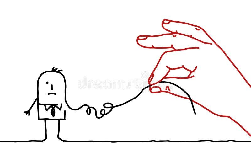 Kreskówka biznesmen - deconstruct royalty ilustracja