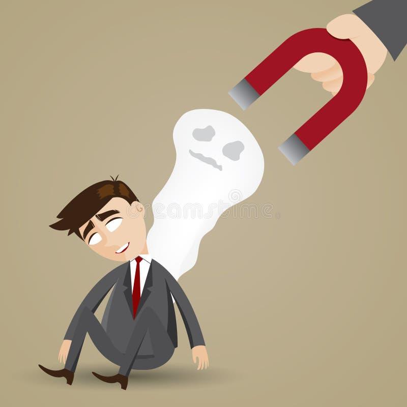 Kreskówka biznesmena uczucia zmęczenie royalty ilustracja
