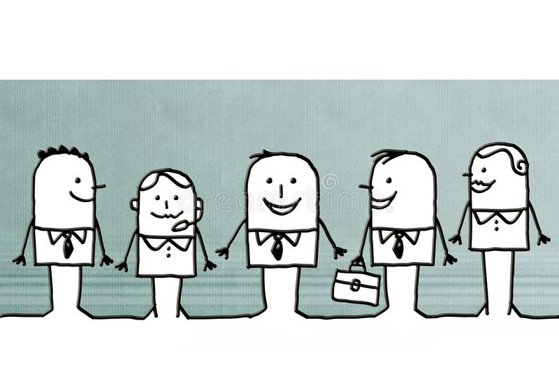 Kreskówka biznesu drużyna royalty ilustracja