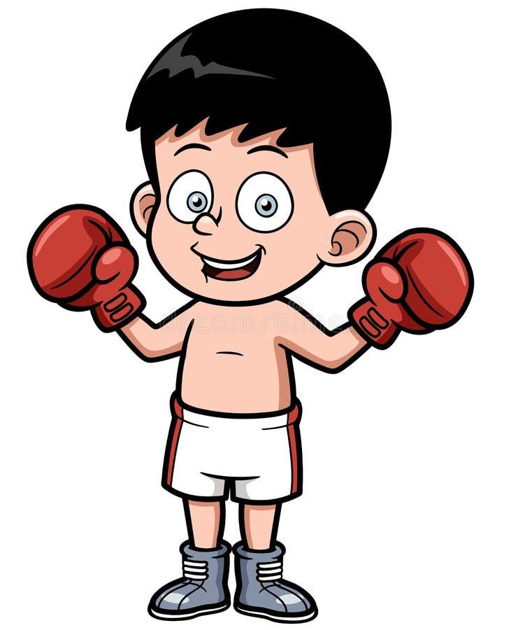Kreskówka boks ilustracja wektor