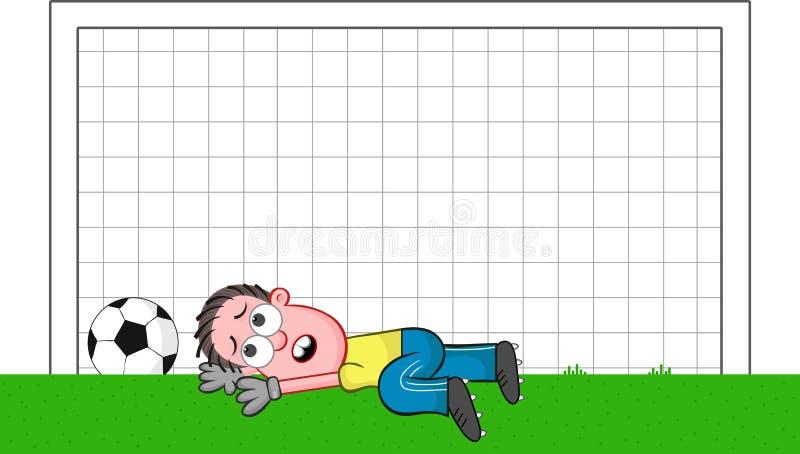 Kreskówka bramkarz Smutny ilustracji