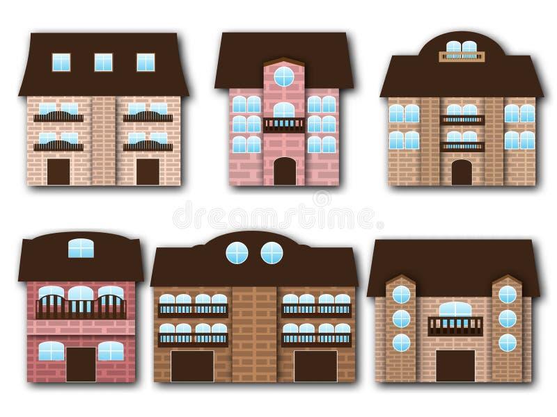 Kreskówka budynki ilustracji