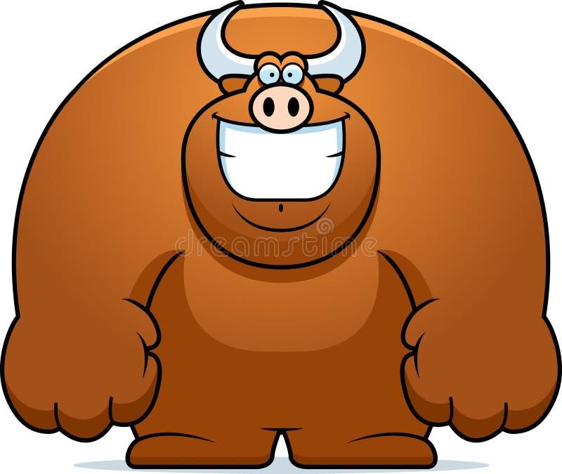 Kreskówka byka ono Uśmiecha się ilustracji