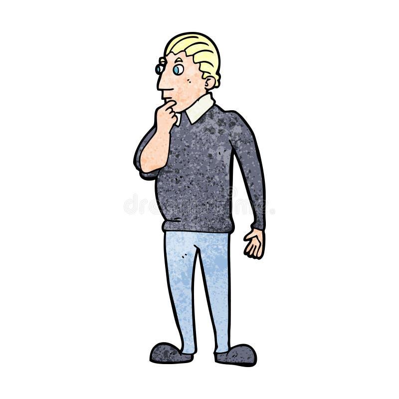 kreskówka ciekawy mężczyzna ilustracji