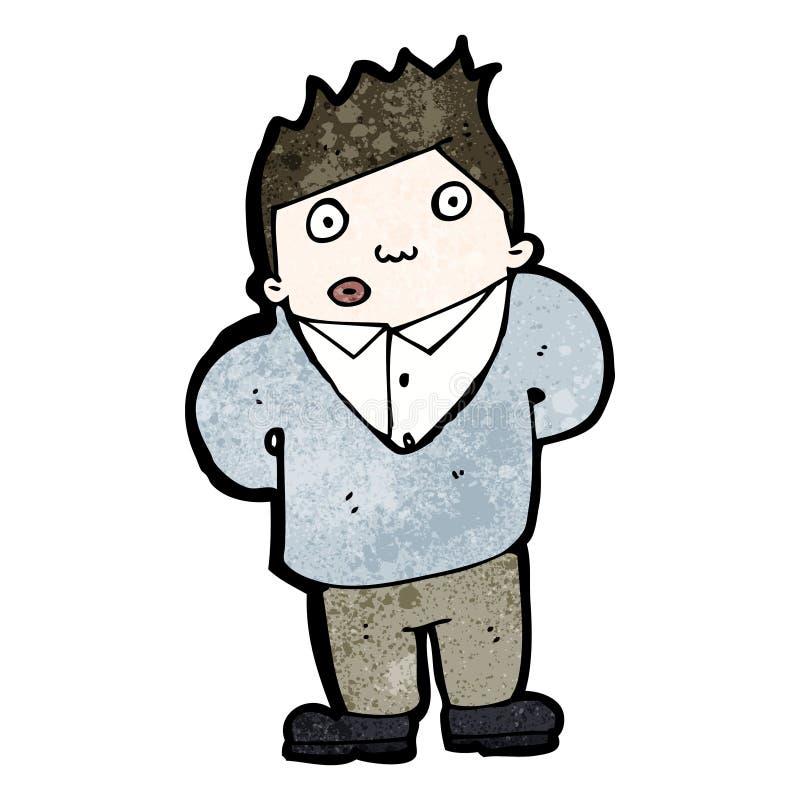kreskówka ciekawy mężczyzna ilustracja wektor