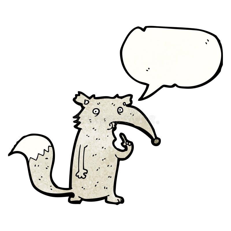 kreskówka ciekawy wilk royalty ilustracja