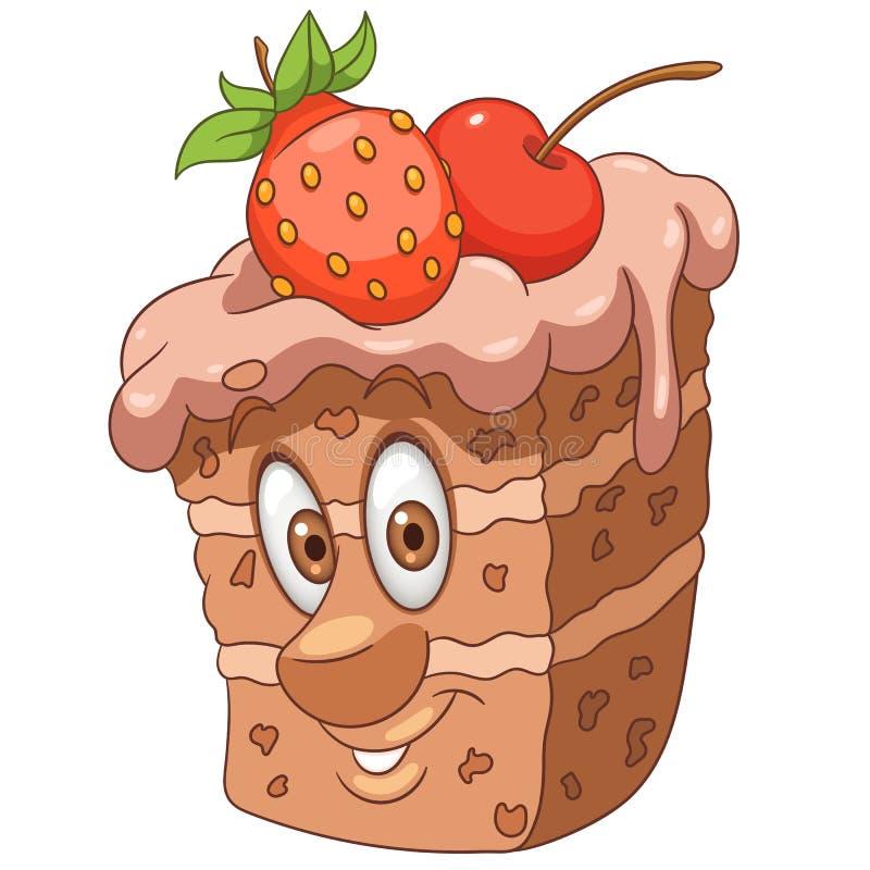 Kreskówka cukierki tort ilustracja wektor