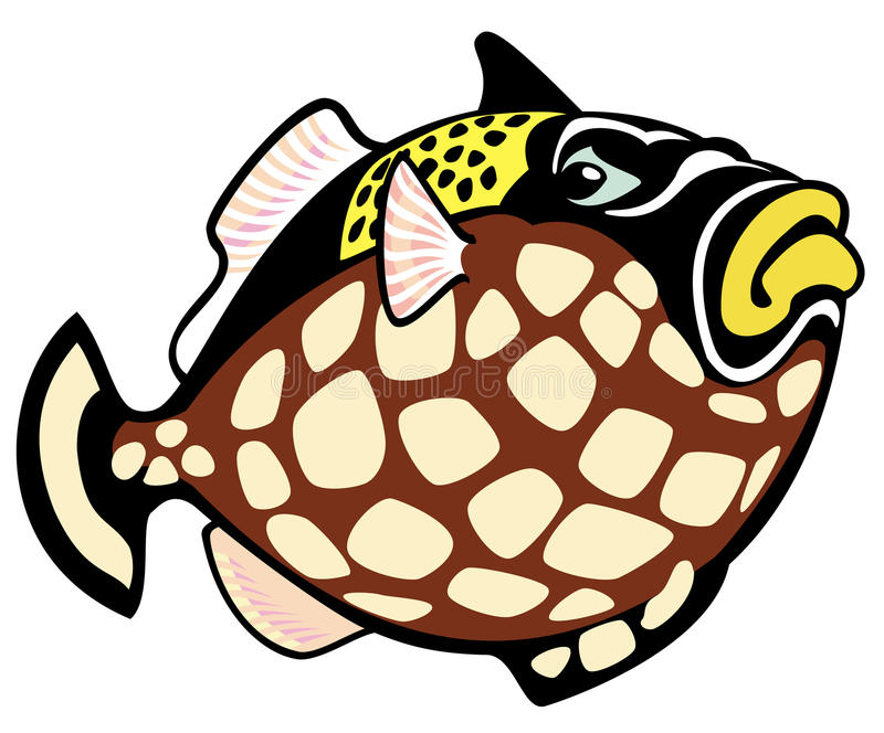 Kreskówka cyngla ryba ilustracji