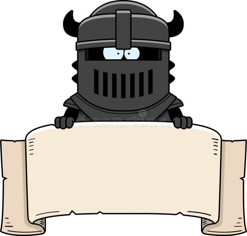 Kreskówka Czarnego rycerza sztandar ilustracja wektor