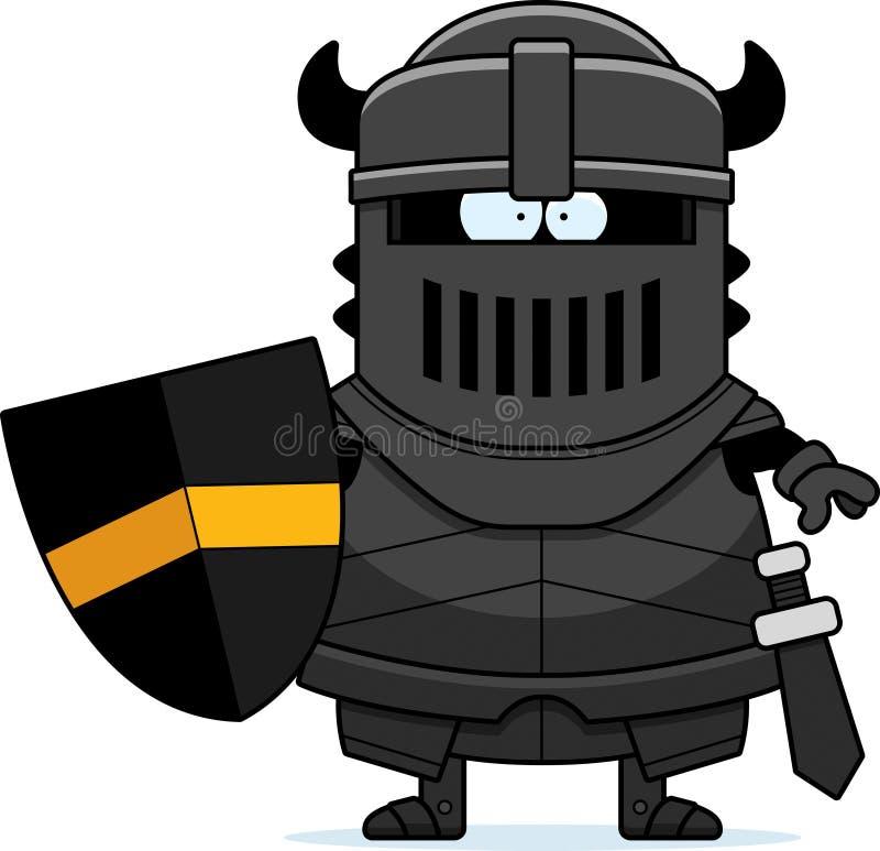 Kreskówka Czarny rycerz w opancerzeniu ilustracji