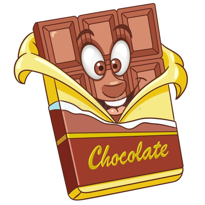 Kreskówka czekoladowy bar royalty ilustracja