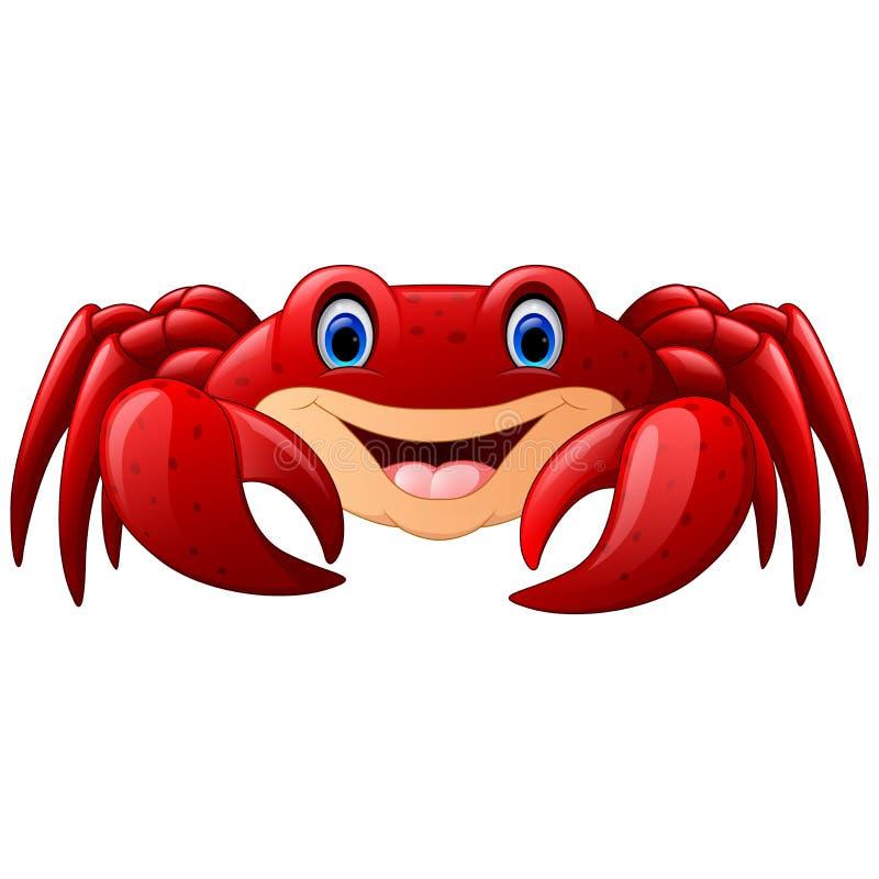 Kreskówka czerwony morski krab ilustracja wektor