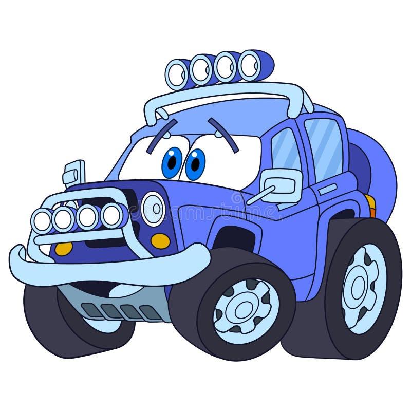 Kreskówka dżipa samochód ilustracji