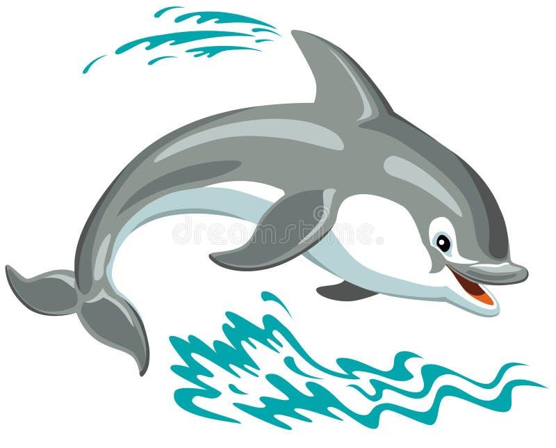 Kreskówka delfin royalty ilustracja