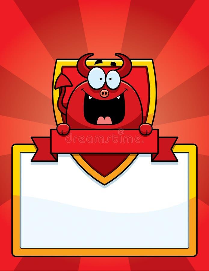 Kreskówka diabła znak ilustracja wektor