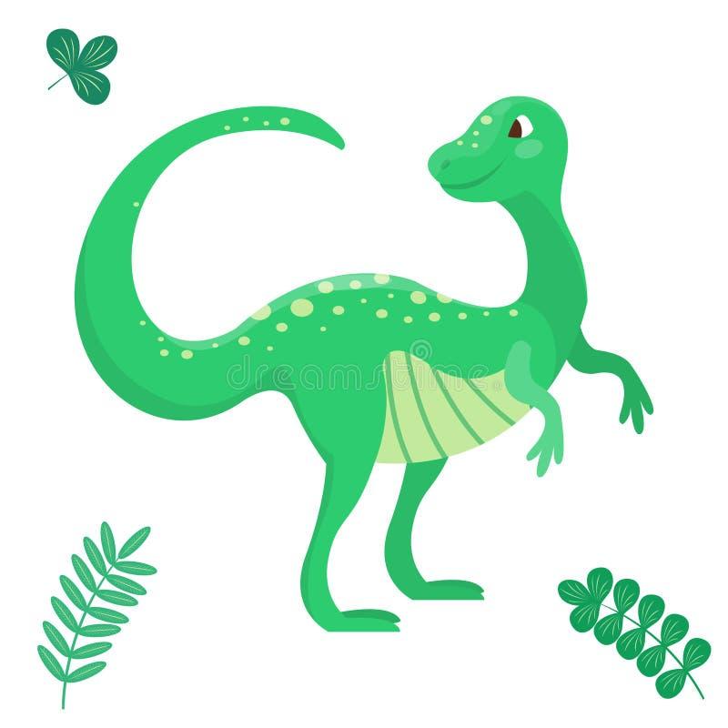 Kreskówka dinosaura wektorowego ilustracyjnego bezszwowego patern potwora Dino charakteru gada zwierzęcy prehistoryczny drapieżni ilustracji