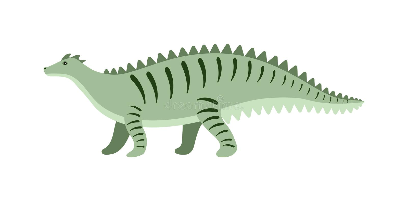 Kreskówka dinosaura wektoru ilustracja royalty ilustracja