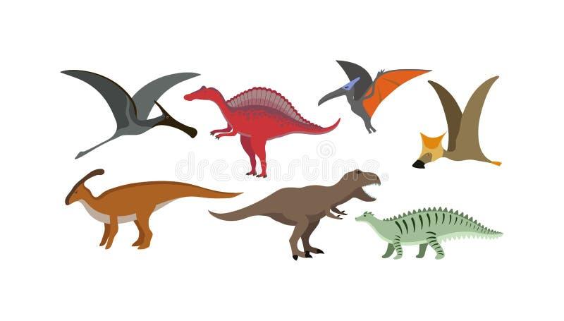 Kreskówka dinosaura wektoru ilustracja ilustracji