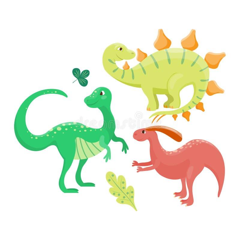 Kreskówka dinosaura wektoru ilustracja ilustracja wektor