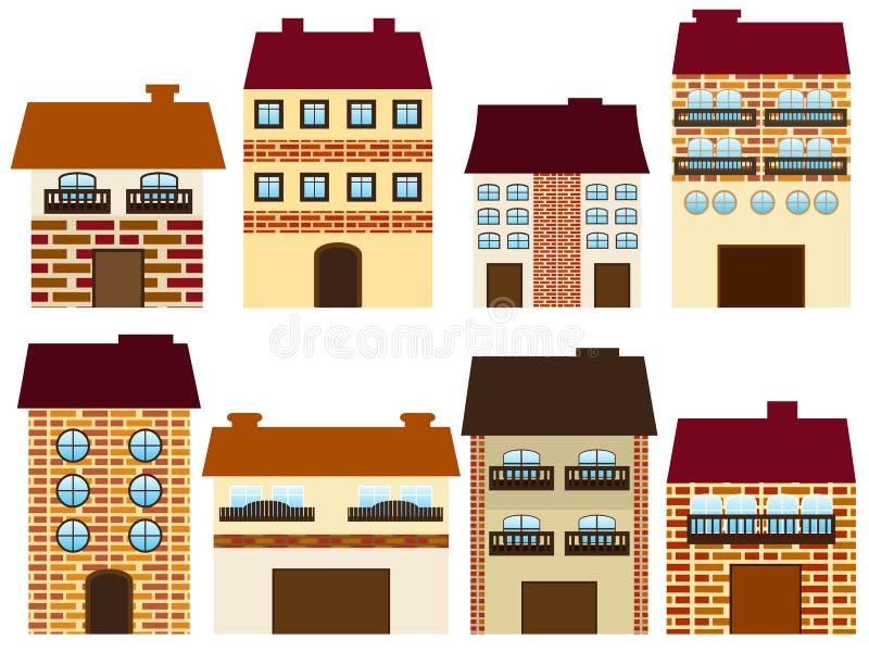 Kreskówka domy ilustracja wektor