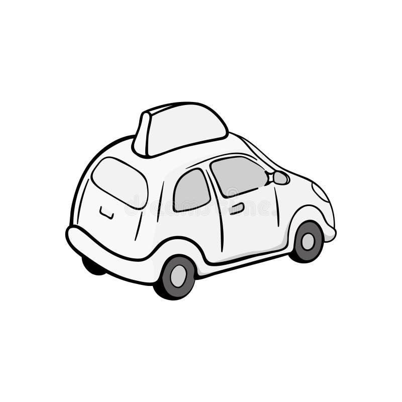 Kreskówka Doręczeniowy samochód odizolowywający na białym tle ilustracja wektor
