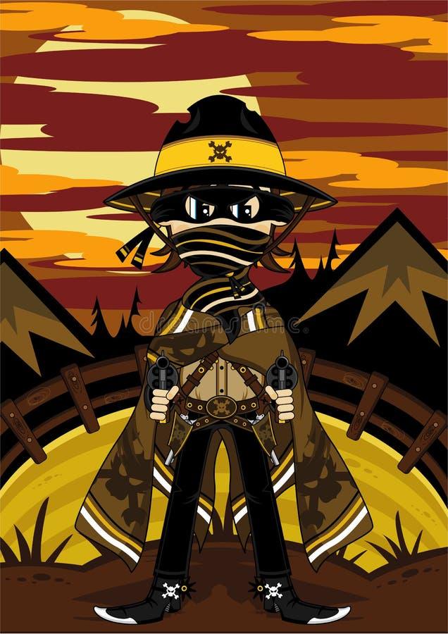 kreskówka dziki zachodni kowboj ilustracja wektor