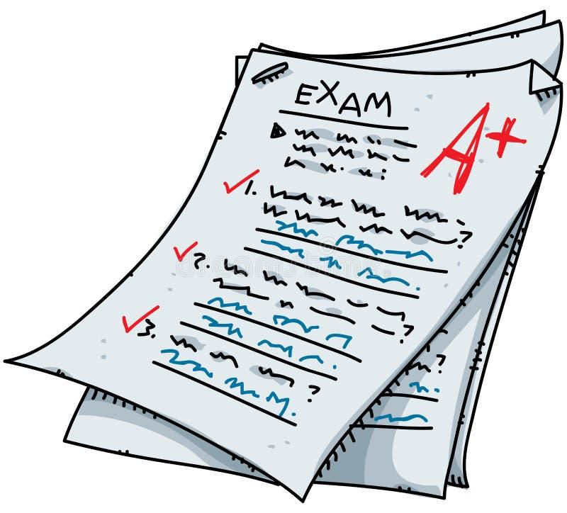 kreskówka egzamin ilustracja wektor