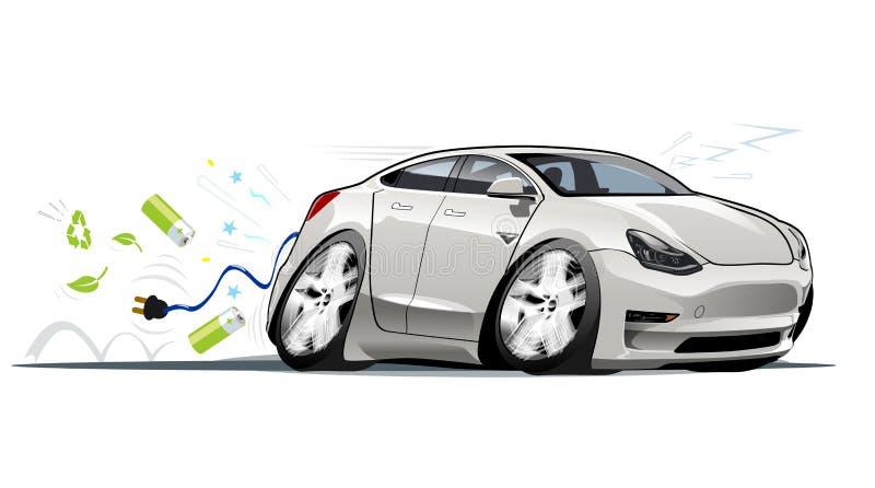 Kreskówka elektryczny samochód ilustracja wektor