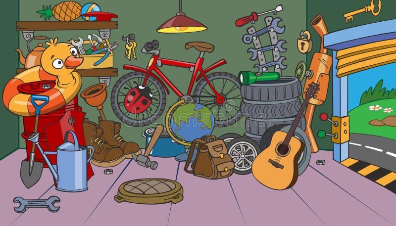 Kreskówka garaż ilustracji