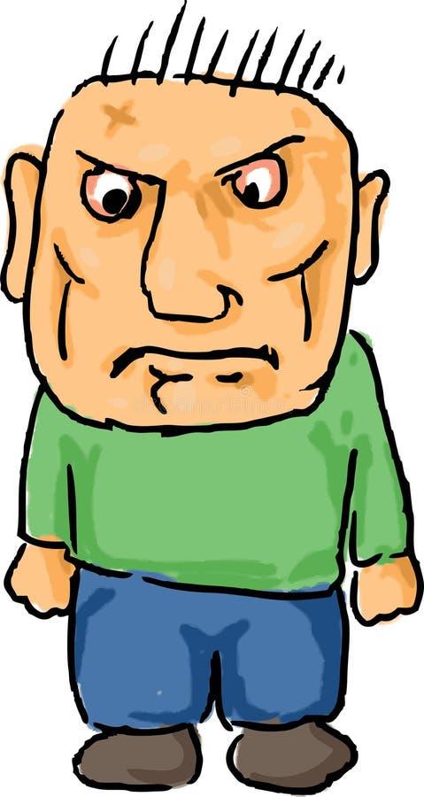 kreskówka gniewny mężczyzna royalty ilustracja