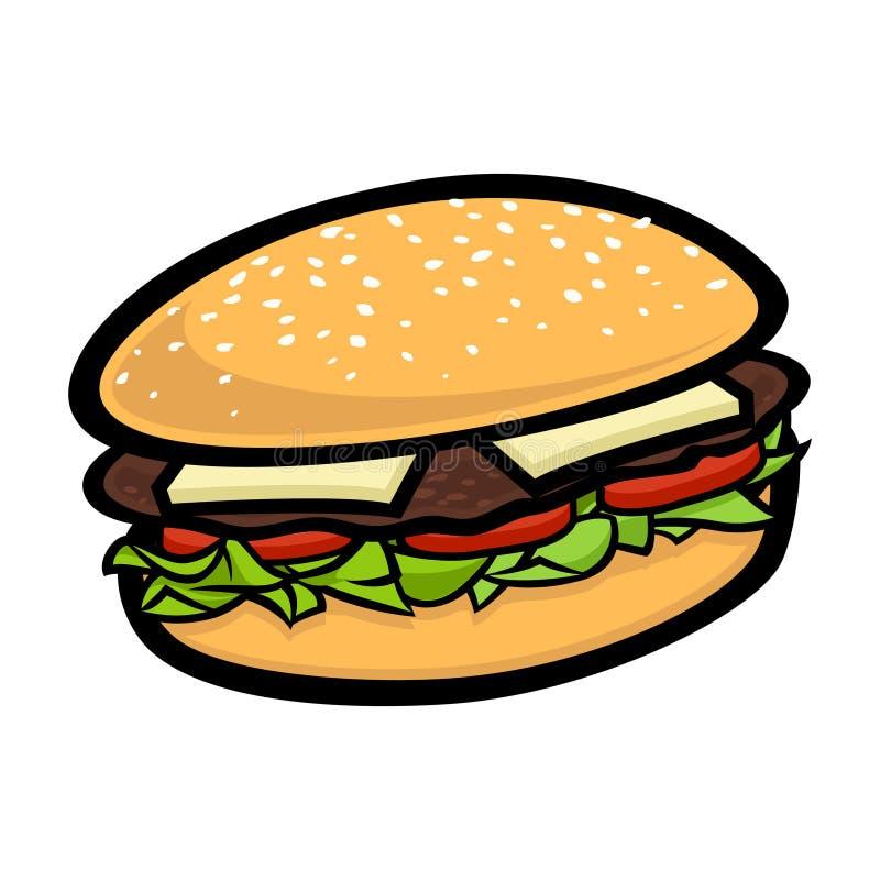 Kreskówka hamburger ilustracja wektor
