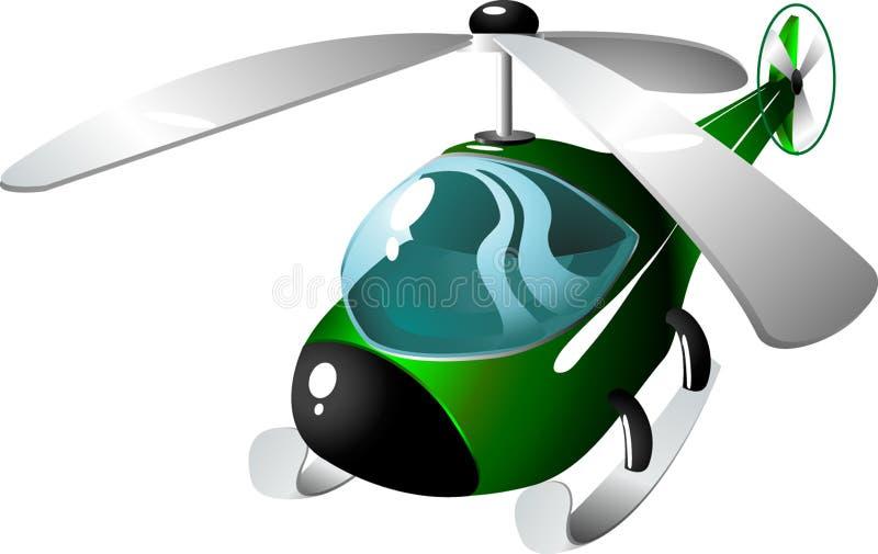 kreskówka helikopter ilustracja wektor