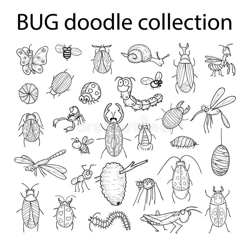 Kreskówka insekta pluskwy ikona, wektorowa ilustracja royalty ilustracja