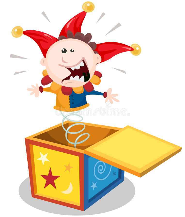 Kreskówka Jack W pudełku royalty ilustracja