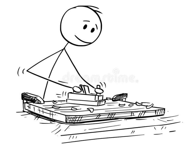 Kreskówka Joiner lub cieśla Pracuje Z drewnem i Jack samolotem royalty ilustracja