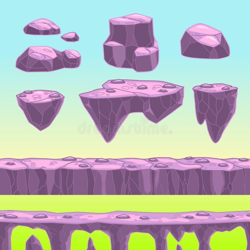 Kreskówka kamienie ilustracja wektor