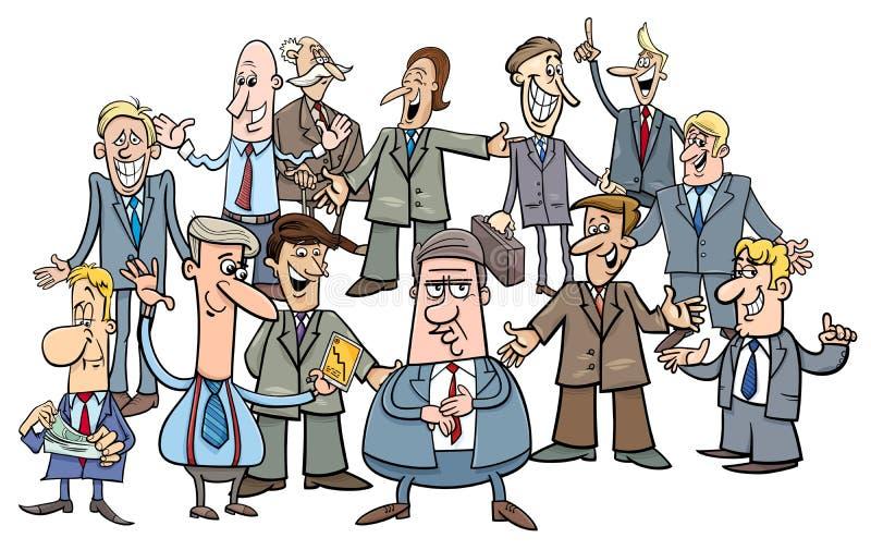 Kreskówka kierowników lub biznesmenów grupa royalty ilustracja