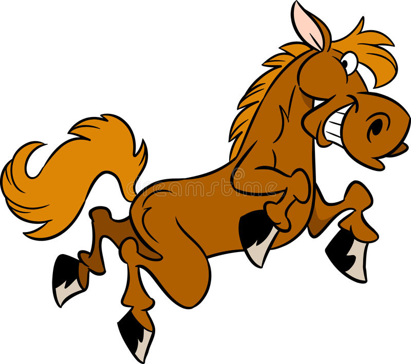 Kreskówka koń ilustracji