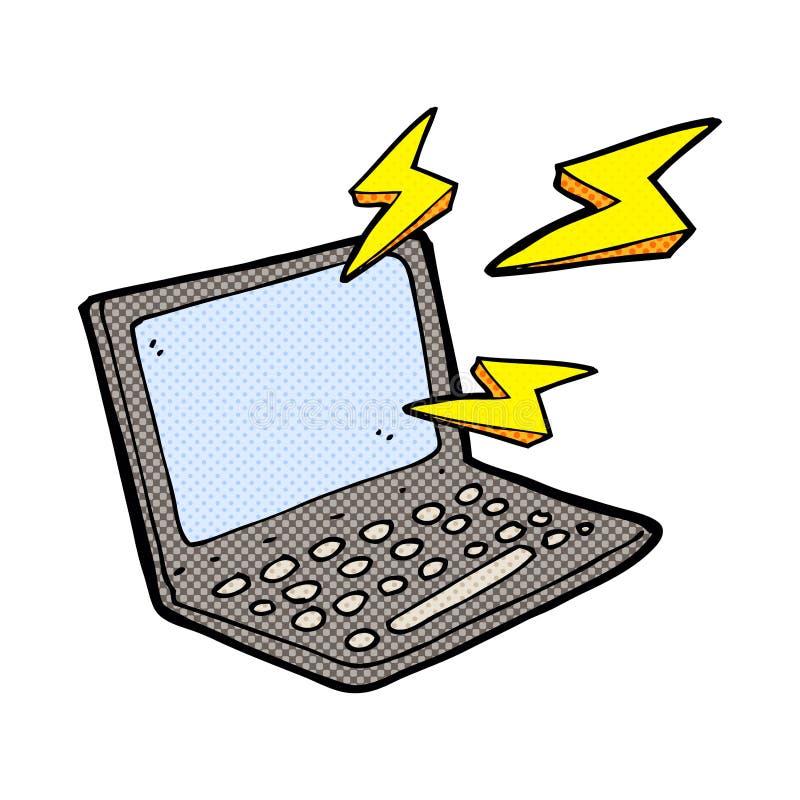 kreskówka komputer royalty ilustracja