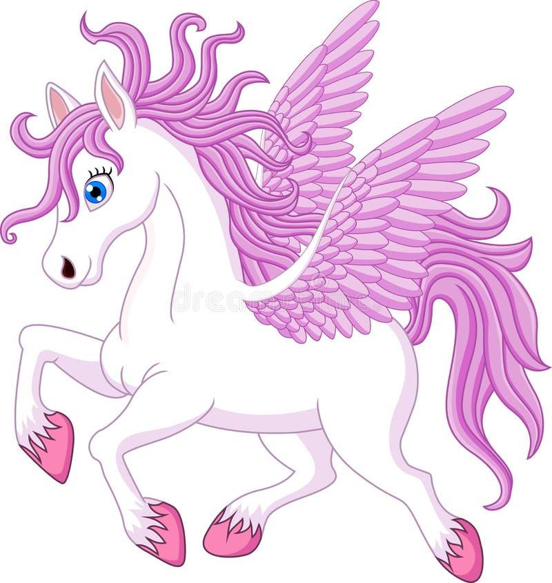 Kreskówka konika konia pozować odizolowywam na białym tle royalty ilustracja