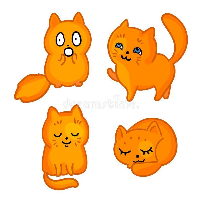Kreskówka kotów majchery royalty ilustracja