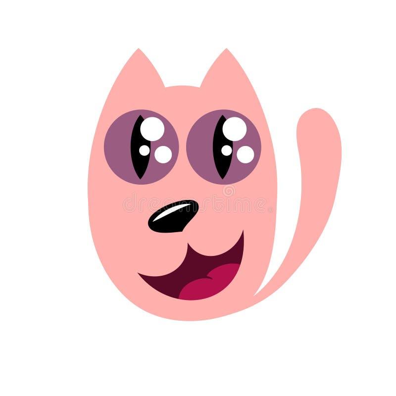Kreskówka kot, stylizowany śmieszny potwór ilustracji