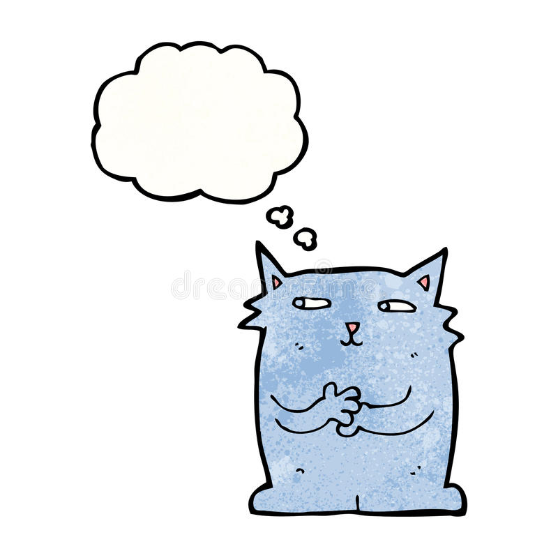 kreskówka kot z myśl bąblem royalty ilustracja