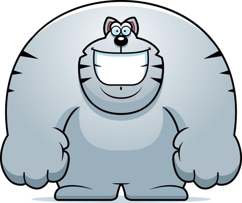 Kreskówka kota ono Uśmiecha się royalty ilustracja